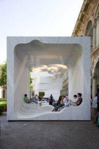Zero by Snohetta Marble Cube installation